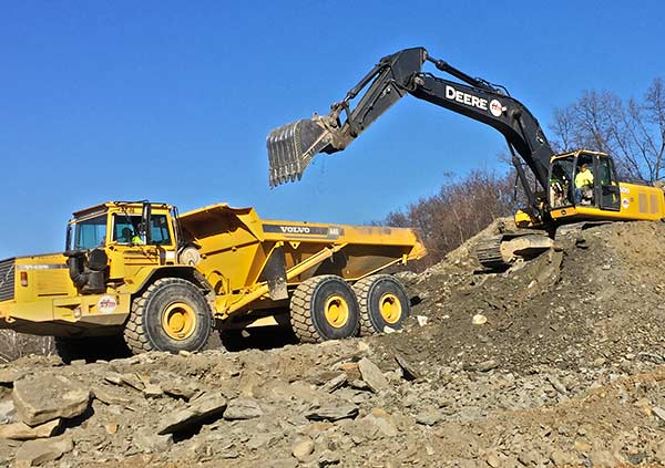 large site excavating equipment